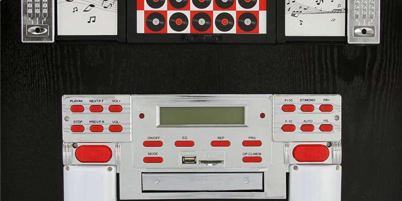 Control digital de la Gramola Jukebox MonsterShop Ruedas barata baratas comprar online precio precios barata baratas
