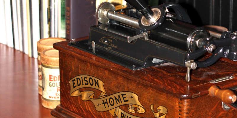 Mecanismo de fonógrafo cilíndrico