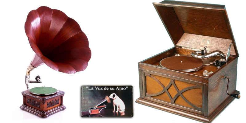 Gramófonos y gramolas La Voz de su Amo